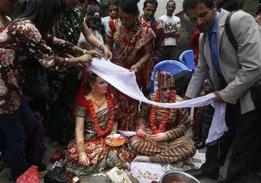 Lesbian Couple Marry In Nepal  Lexlimbu-2772