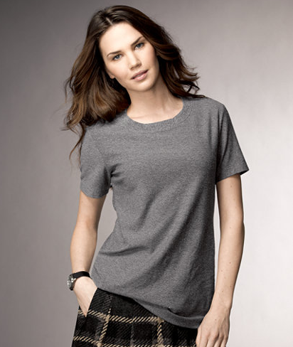 d3288f8d3 And this shirt...a cotton wool blend, totally awesome, yet why can't you be  a V neck? Us short ladies always look better in V necks, not to mention  they're ...
