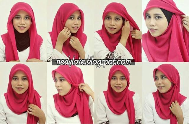 Tutorial  Cara Memakai Hijab Segi Empat Untuk Sehari-hari Praktis