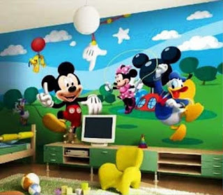 Gambar Wallpaper Dinding Yang Lucu Tema Mickey Mouse