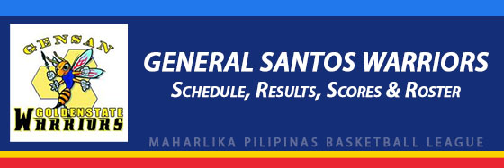 MPBL: General Santos Warriors Schedule, Results, Scores, Roster