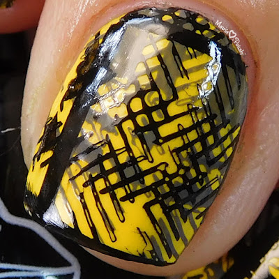 Hufflepuff-Pride-Nail-Art-Moonflower-Polish-MoYou-London-Hipster 06-macro
