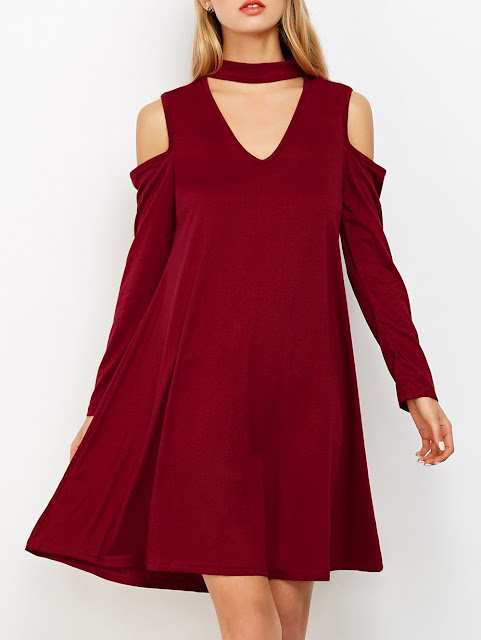 abiti burgundy vestiti burgundy burgundy dresses zaful dresses fashion moda shopping on line abiti zaful abiti inverno 2018