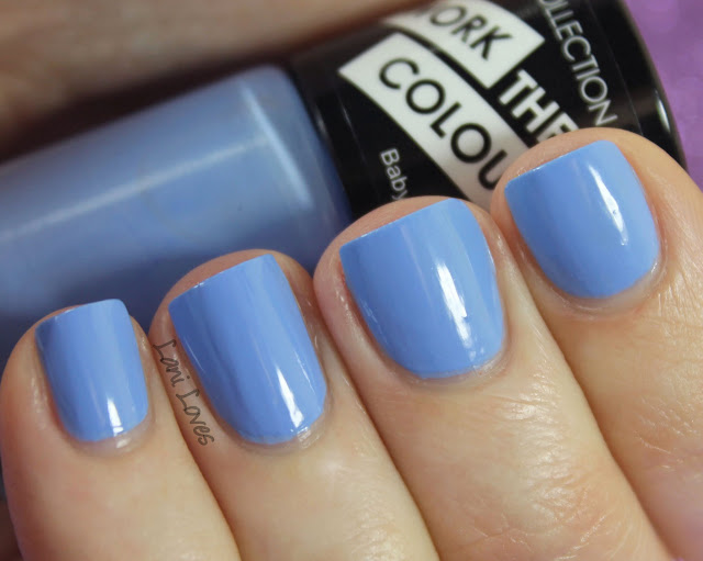 Collection Work the Colour Baby Blue Nail Polish Swatches & Review