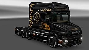 Black & Gold skin for Scania T Longline