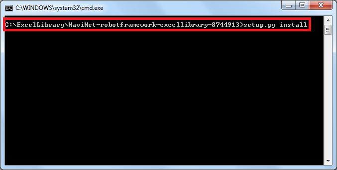 Installing Excel Library in Robot Framework