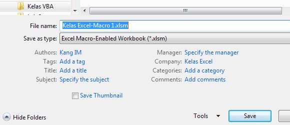 Excel Macro Enabled Workbook