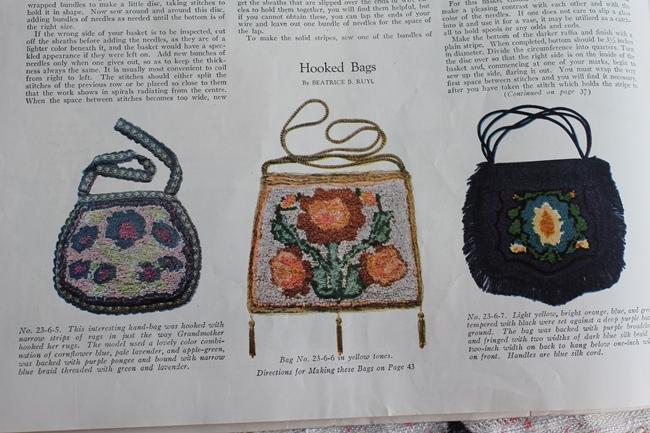 1923 hooked handbags