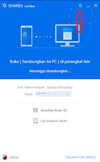 cara menggunakan shareit di laptop  di android di iphone