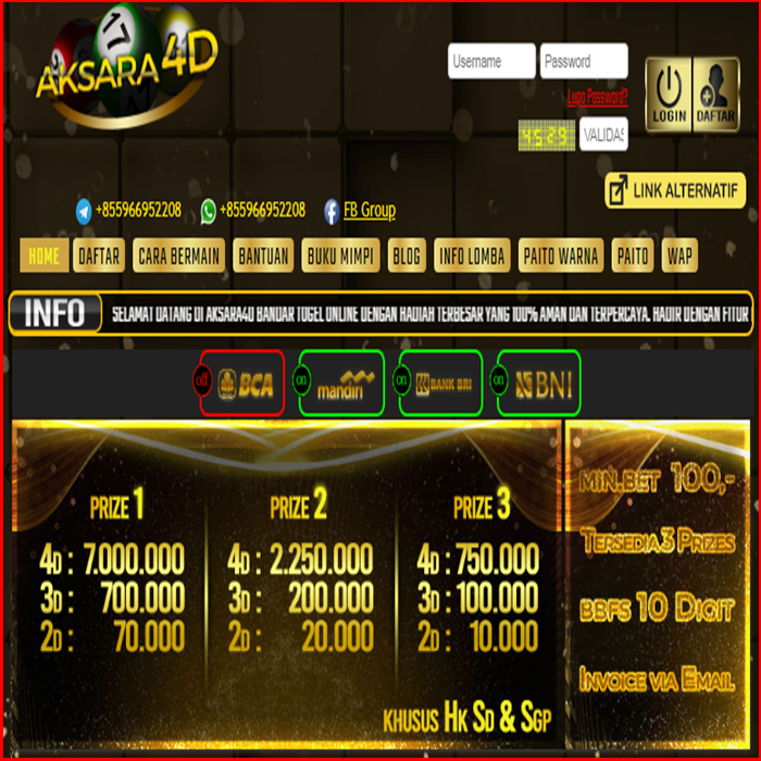 Bandar Togel Online AKSARA4D