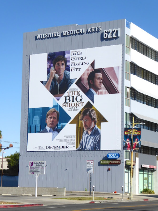 The Big Short giant movie billboard
