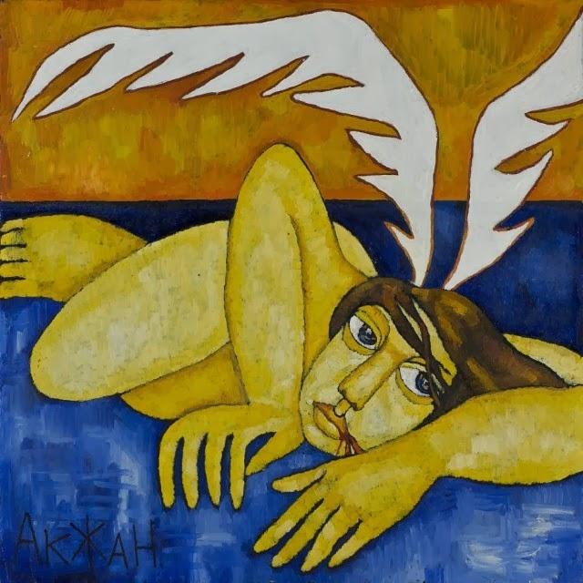 Талантливая казахская художница. Акжана Абдалиева