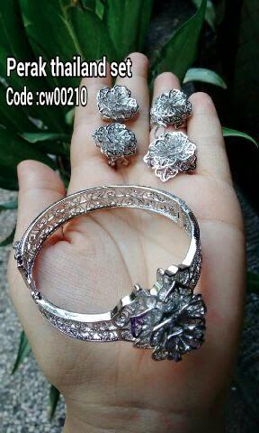 Set perhiasan bahan perak Thailand kode:02052015-2