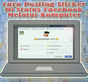 how to add sticker in facebook status
