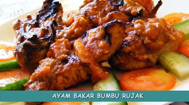 Resep Ayam Bakar Bumbu Rujak Sederhana
