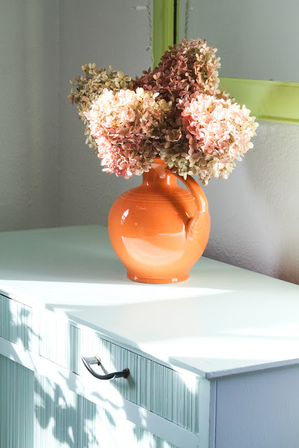hydrangeas, dried flowers, painted furniture, Anne Butera, My Giant Strawberry