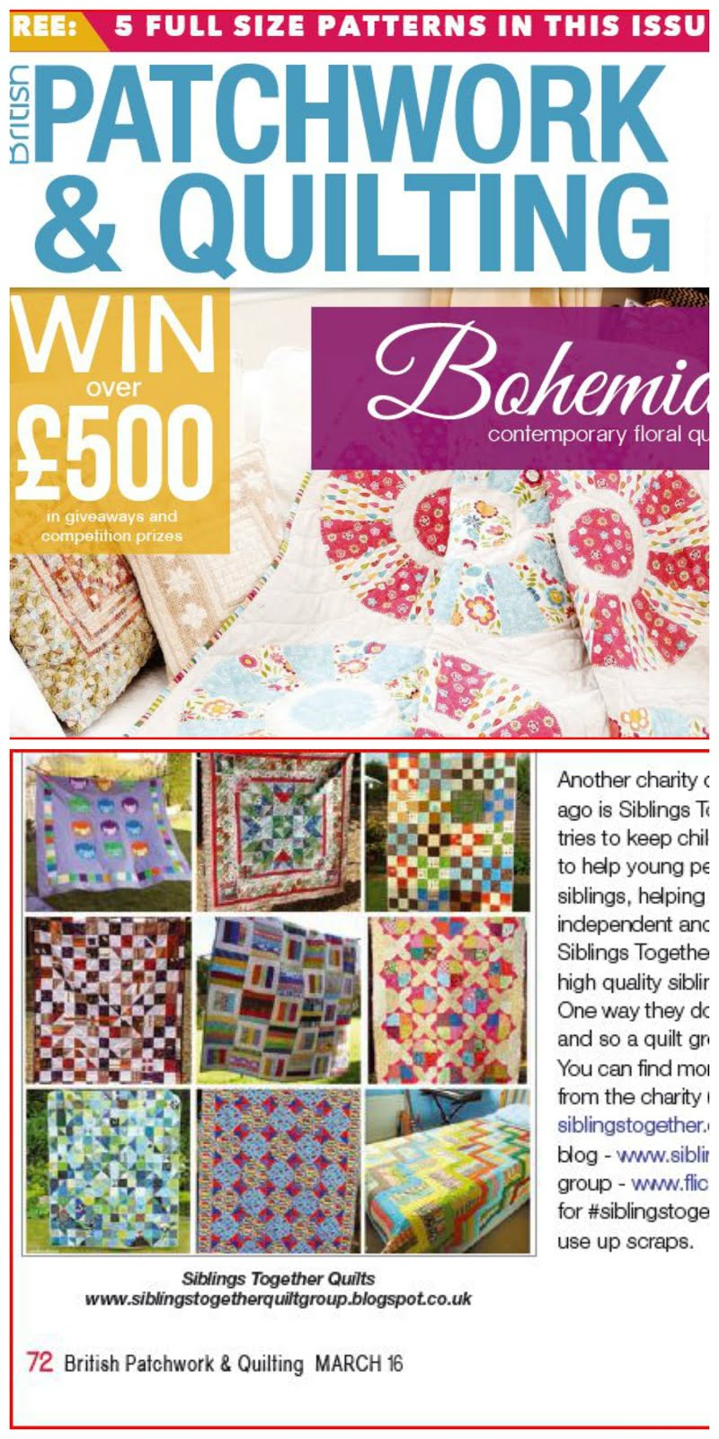 Wandering the Web in British Patchwork and Quilting Magazine