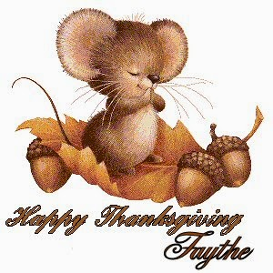praying mouse - happy thanksgiving tag