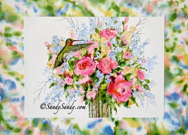 http://www.sandysandyfineart.com/hummingbird-happiness.html