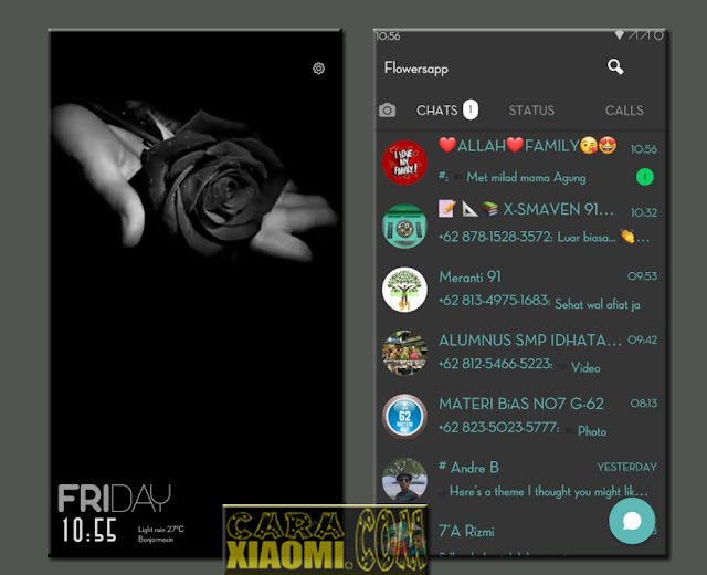 Download MIUI Theme Flower of Darkness For Xiaomi Update Caraxiaomi.com