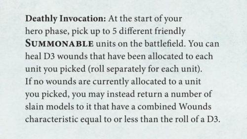 reglas especiales Legions of Nagash