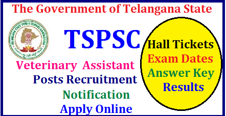 TSPSC 541 Veterinary Assistant Posts in Category 4 of Class A Recruitment Notification, Vacancies, Eligibility , Syllabus, Scheme of Examination ,Apply Online TSPSC Veterinary Assistant Posts Recruitment| TSPSC Veterinary Assistant Posts Recruitment online application form | Telangana Public Service Commission is inviting Online Applications form qualified candidates to the posts of Veterinary Assistant posts in Telangana| Vacancies,Eligibility Criteria Syllabus for Preliminary and Main Exams| Scheme of Examination for Assistant Executive Engineer Posts| Date of Examination fee payment details| How to apply online for the post of Veterinary Assistant Posts notification by TSPSC| TSPSC Veterinary Assistant Posts Recruitment Hall Tickets| TSPSC Veterinary Assistant Posts Recruitment Results| TSPSC Veterinary Assistant Posts Recruitment Exam Answer Key ,Final Key| TSPSC Veterinary Assistant Posts Recruitment Preliminary exam Date | TSPSC Veterinary Assistant Posts Recruitment Main Exam date | TSPSC Veterinary Assistant Posts Recruitment exam Pattern and many more details are available on Commissions web portal @ www.tspsc.gov.in | tspsc-veterinary-assistant-recruitment-notification-apply-online-hall-tickets-results-download-www.tspsc.gov.in TSPSC Veterinary Assistant Posts Recruitment Notification 2017 TSPSC has published the Veterinary Assistant Posts Recruitment 2017 Notification on May 1 and Online Applications are invited through online mode at TSPSC Web Portal for filling up of TSPSC Veterinary Assistant Posts /2017/06/tspsc-animal-husbandary-veterinary-assistant-recruitment-notification-apply-online-hall-tickets-results-download-www.tspsc.gov.in.html