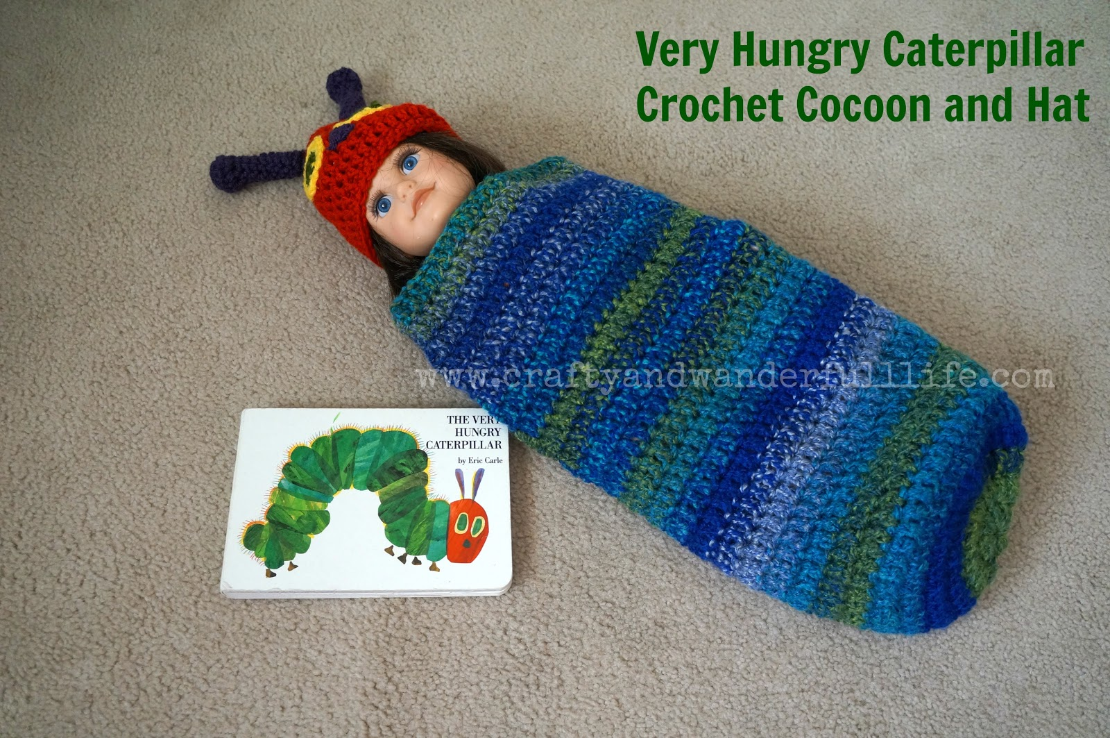 Crafty And Wanderfull Life: Crochet: Very Hungry Caterpillar Cocoon ...