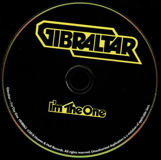 GIBRALTAR - I'm The One [remastered reissue] (2018) disc