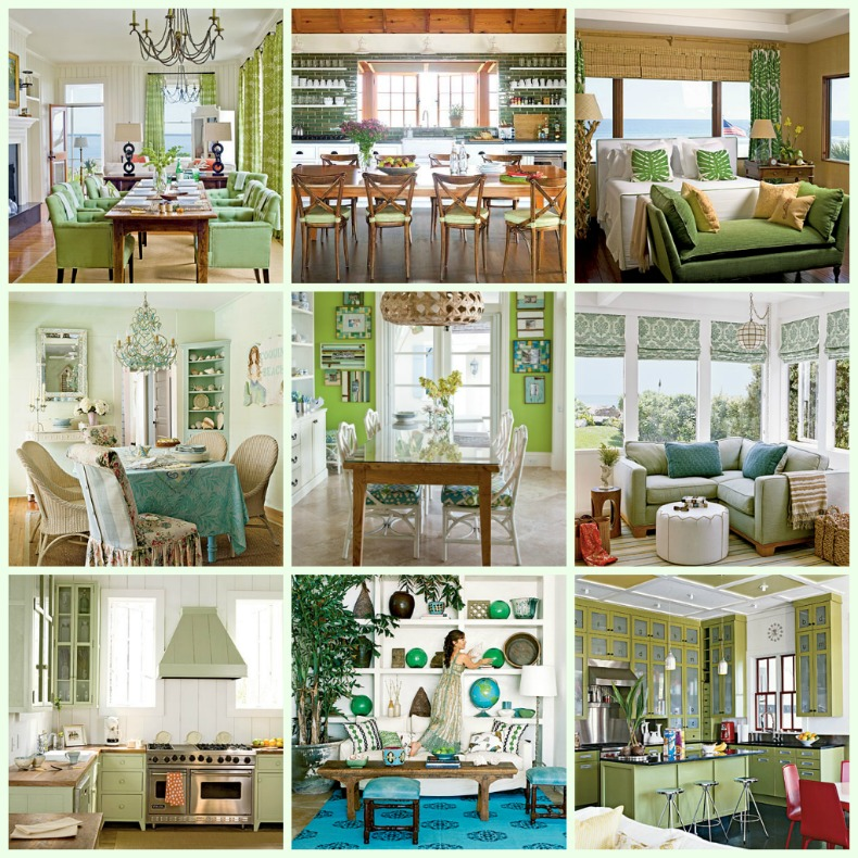 Coastal green interiors
