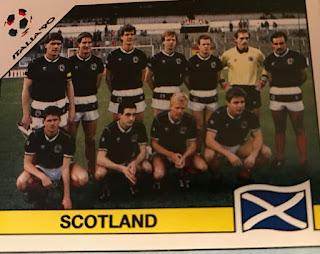 Figurina panini Scozia Italia 90