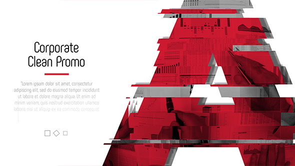 glitch corporate - clean promo 19317874 - free after effects, Powerpoint templates