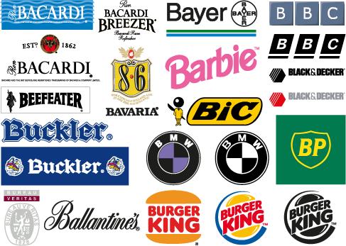 logos y marcas comerciales con la letra b vector clipart