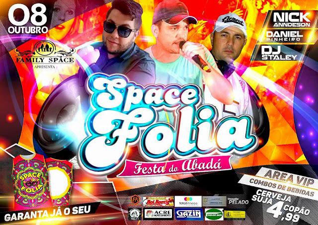 Dia 8 de Outubro tem Space Folia