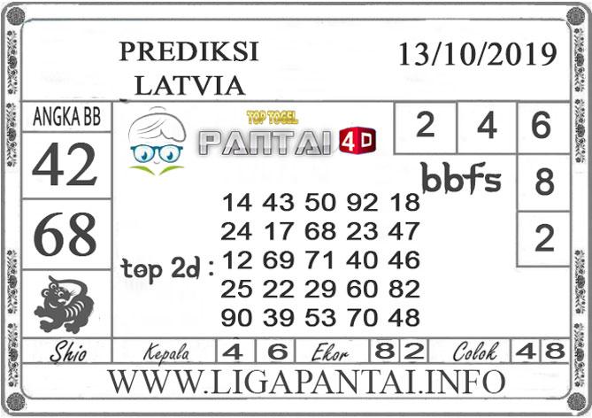 """PREDIKSI TOGEL """"LATVIA"""" PANTAI4D 13 OKTOBER 2019"""