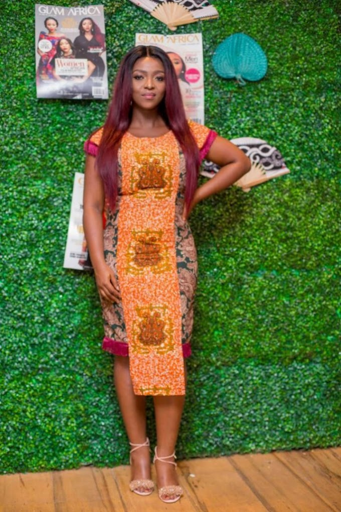 Photos:Cover girl, Yvonne Okoro dazzles at the unveiling of Glam Africa new issue