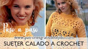 Suéter calado a crochet / Paso a paso