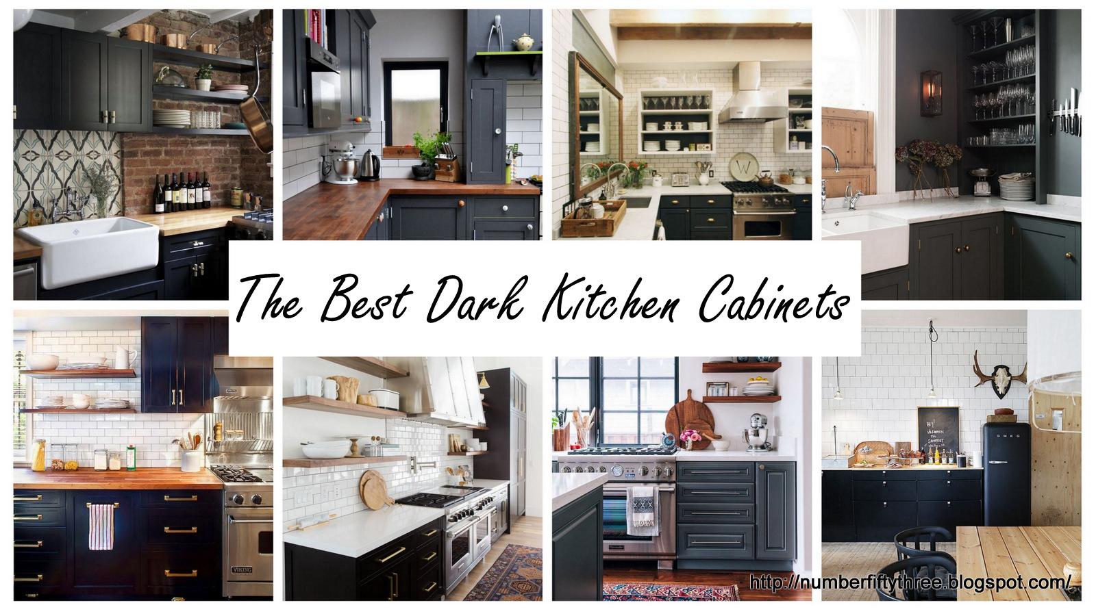 Number Fifty Three The Best Dark Kitchen Cabinets An Announcement