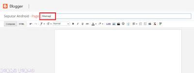 tutorial membuat laman sitemap pada blog baru