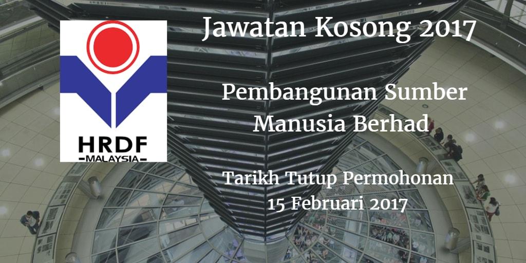 Jawatan Kosong Pembangunan Sumber Manusia Berhad 15 Februari 2017