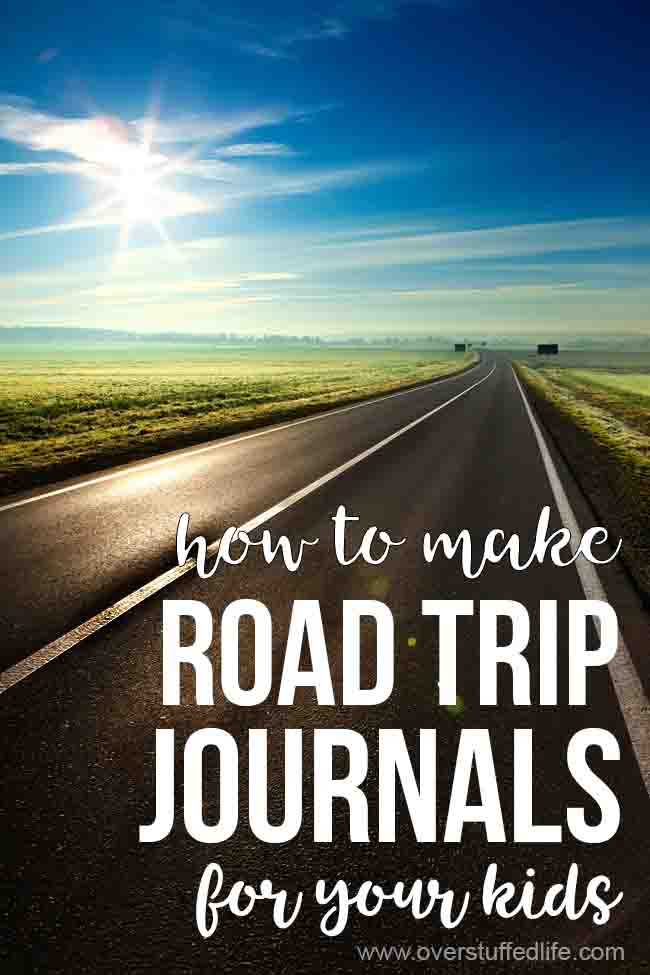Want to make sure your kids aren't bored on your next road trip? Try making them vacation journals to document their memories—it's a super fun idea for long road trips!