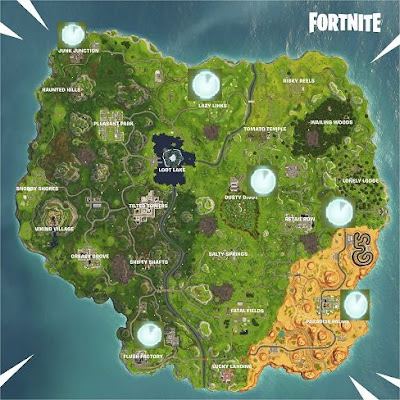 Vehicle Time Trials, Locations Map, Fortnite Season 6 Week 10