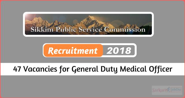 SPSC Sikkim GDMO Recruitment 2018
