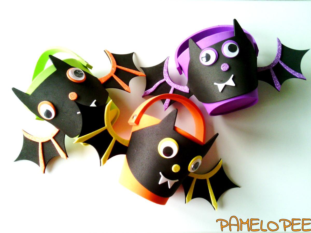 Pamelopee Halloween Kinderbasteleien Mit Blitz Diy Mini Girlande
