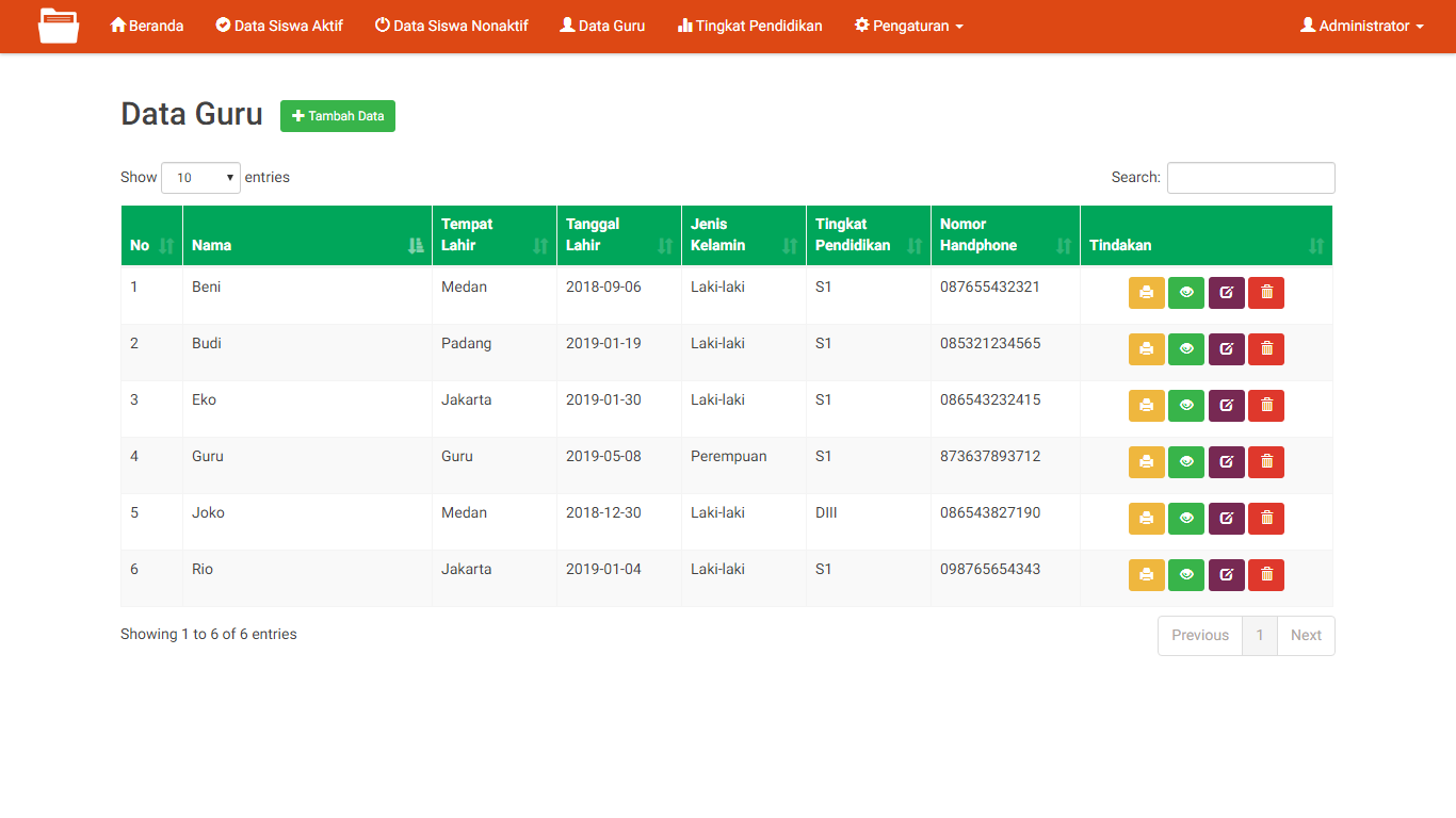 Aplikasi Arsip Data Bimbel Dan Private - SourceCodeKu.com