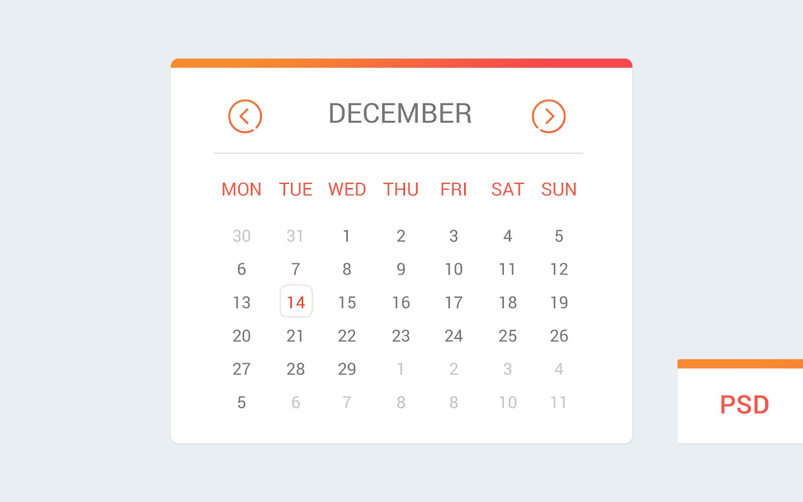 App Calendar Design Idea