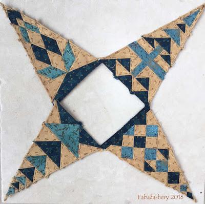 Dear Jane Quilt - Draw 45 - Border Triangles TR4, TR10, BR4, BR10