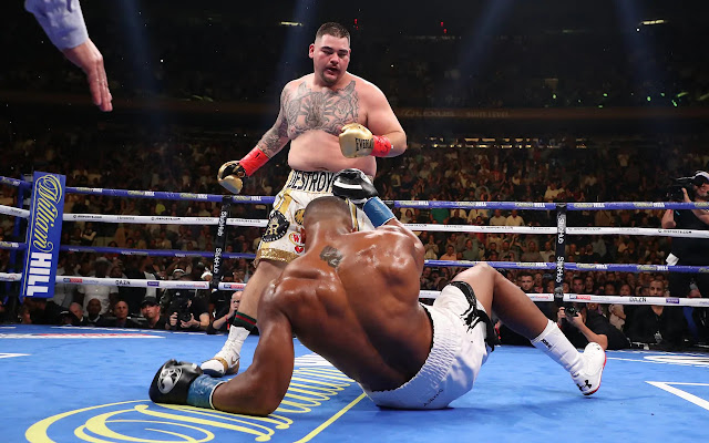 Andy Ruiz upsets Anthony Joshua for the WBA (Super), IBF, WBO, and IBO heavyweight boxing titles. StrengthFighter.com