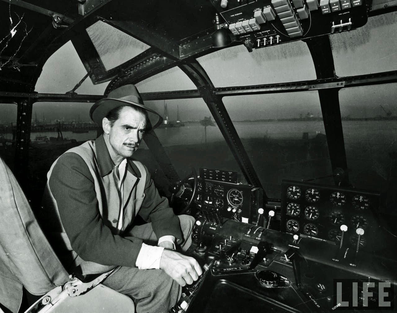 Ultimate Collection Of Rare Historical Photos. A Big Piece Of History (200 Pictures) - Howard Hughes inside of the H-4 Hercules