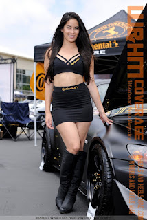 Arley Elizabeth in black boots with Continental Tire