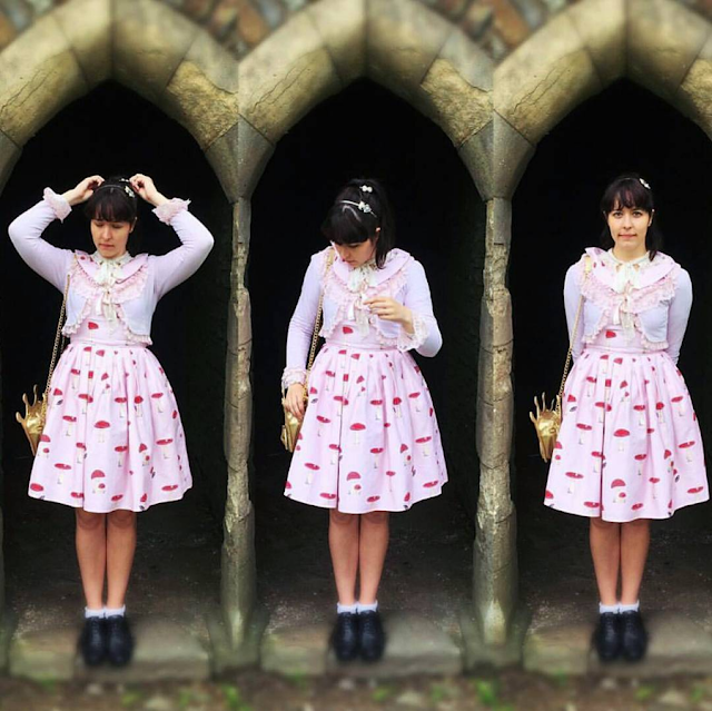The Woodland Path Faerie Jumperskirt Otome Kei cute fashion